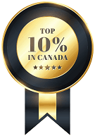 Top 10% In Canada Badge