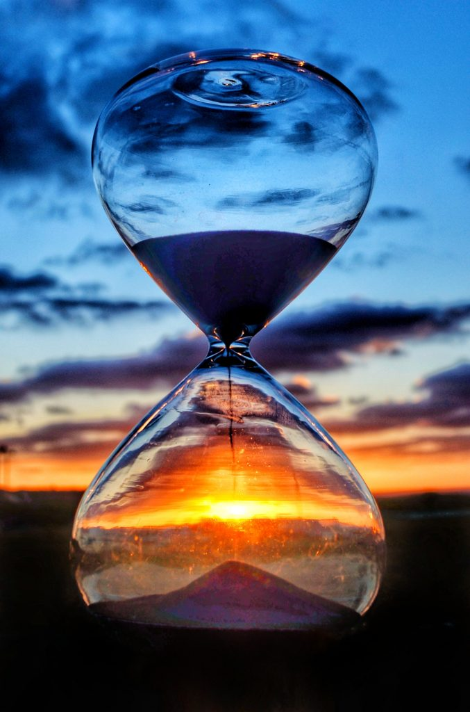 Over time hourglass